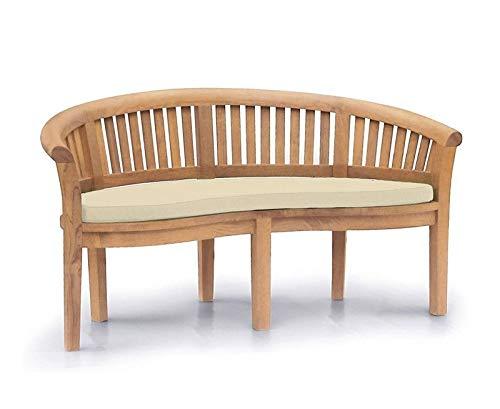 Teako Design Avellino TB-1014 - Cojín para banco de plátano (madera de teca, 150 x 45 cm)