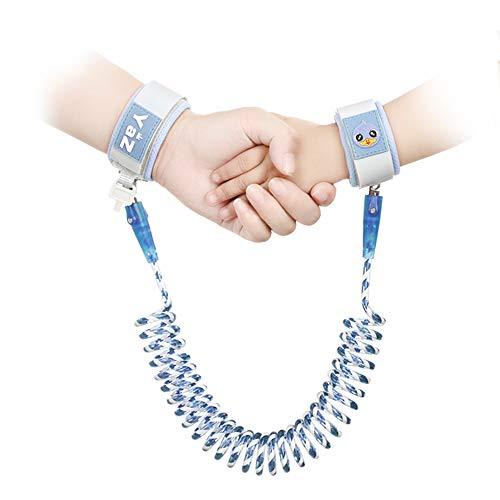 Anti-verloren Gürtel Handgelenk, iitrust Sicherheitsleinen Kinder mit Sicherheitsschloss, 1,5 Meter Baby Kleinkind Sicherheit Armband Zügel (Blau)