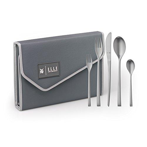 WMF Elle Deco - Cubertería para 6 personas, 30 piezas, cuchillo monobloc,...