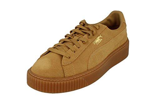 PUMA Suede Platform Donna Sneaker, (Farina d'avena Oro 01), 37 EU