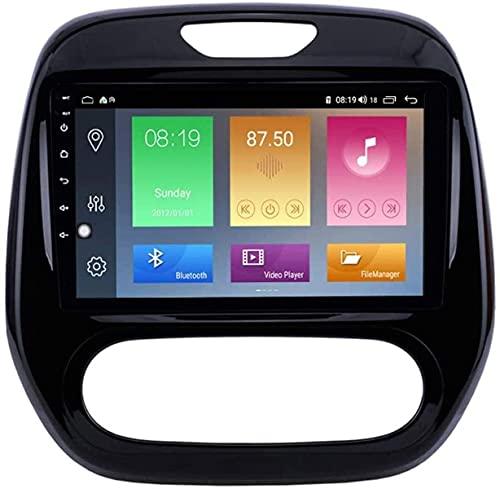 LYHY Android 10 Autoradio Multimediale Navigazione GPS per Renault Captur Clio 2011-2016, Supporto Autoradio/DSP FM AM RDS/Sistema BT/Specchio Volante/Volante 4G WiFi 6+128