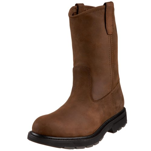 Wolverine mens DD Work Wellington Dark Brown 9.5 M US