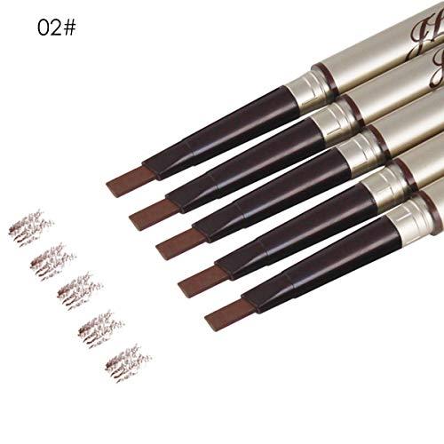 HaiQianXin Crayon de sourcil de Maquillage 3D imperméable à l'eau à Double extrémité, Anti-Sueur (Color : Light Coffee)