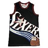 WXMJ Baloncesto Top Hombre Jersey, Cómoda y Transpirable Chaleco de Moda Sin Mangas Camiseta sin Mangas para Entrenamiento de Competencia Fitness Fitness (S-XXL) Sixers Iverson 3-S