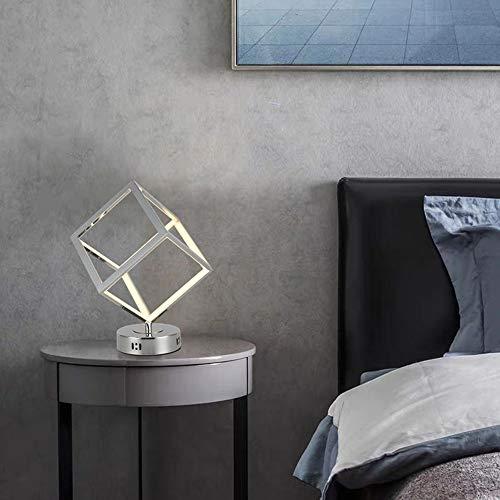FHUA Lámpara Escritorio Lámpara Entrada Sala de Entrada lámpara lámpara lámpara Creativa salón Minimalista Mesa Estilo escandinavo led Cube lámpara (20 * 20 * 28 cm)