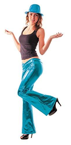 Party Pro 8650515 Pantalon Disco Turquoise, Multicolore