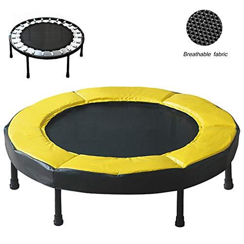 Fitness trampoline, volwassen kinderen 2 cm dikke gele beschermrand binnen en buiten fitness dames vorm springbed
