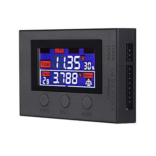 Digitaler Batterie Kapazität Prüfer Batteriekapazität Spannungsanzeige Controller Tester mit Farbdisplay Automatische Identifizierung LiPo-Lebensdauer Li-Ion NiMH usw.