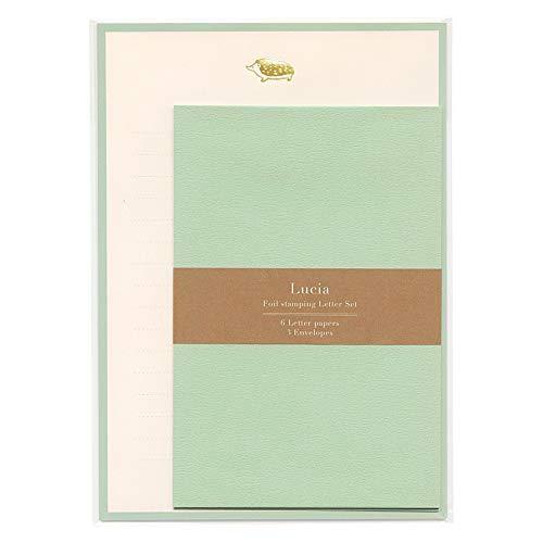 ルチア 箔押しレターセット 【ハリネズミ】 LCA-006