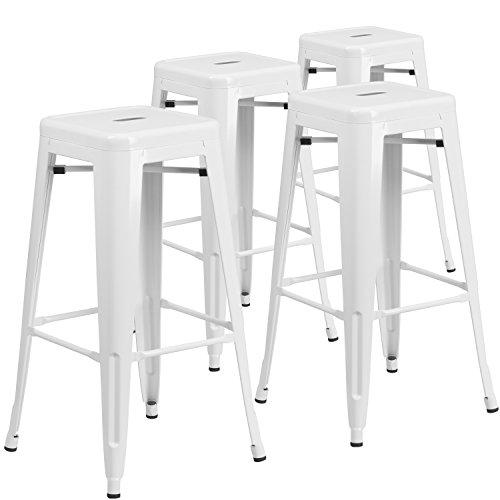 white bar stools - 8