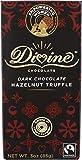 Divine Chocolate, Bar Dark Chocolate Hazelnut Truffle, 3 Ounce
