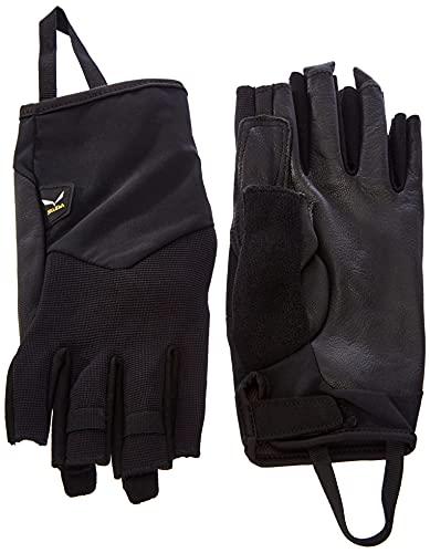 Salewa Unisex Via Ferrata Leather gloves, Schwarz, XL EU