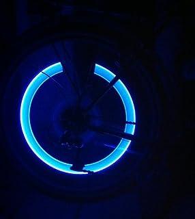 RBrothersTechnologie 2 stuks LED ventieldoppen wielverlichting licht velglicht tuning auto blauw