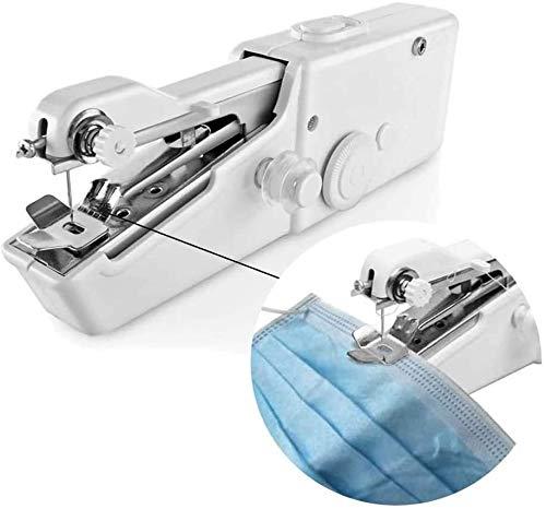 Máquinas de Coser Máquina de Coser Handheld Portable StitchSewing Herramienta eléctrica del Mini inalámbrico Costura Overlock Máquina for Coser del hogar de DIY artesanía, Color: Blanco