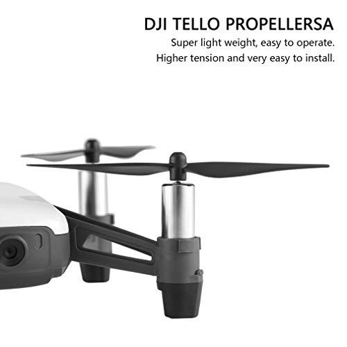 Dilwe Tello Propeller, Schnellspanner - Premium Kohlefaser - Drone Propeller Set für DJI Tello Drone Quadcopter, 2 Paar / Set ( schwarz)