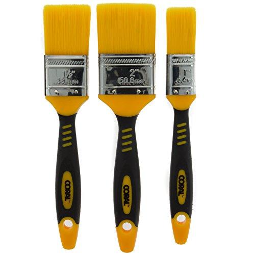 Coral Tools Coral 31416verlustfreie Pinsel mit Kein Verlust von Borsten Pinsel Köpfe 3Stück Pack Set–Gelb (3-teilig)