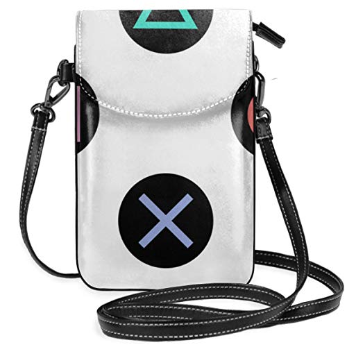 Spelen met playstation controller knoppen Crossbody portemonnee mobiele telefoon portemonnee Mini schoudertas met schouderriem voor vrouwen, meisjes
