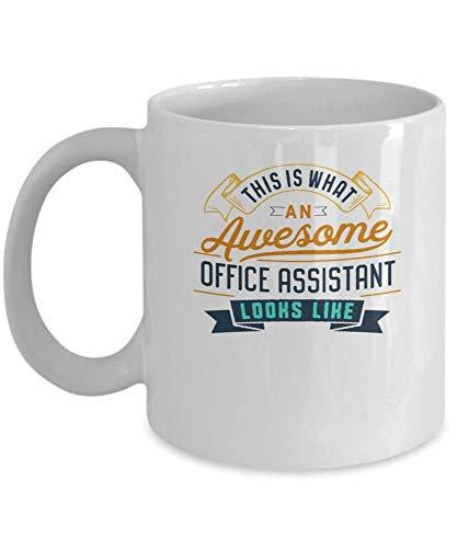 Divertida taza de café para asistente de oficina, impresionante trabajo, ocupación, regalos para el día de la madre, novedad, tazas divertidas, regalo de 11 oz