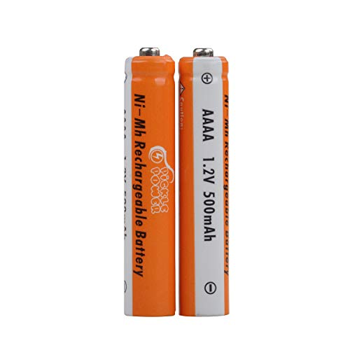 AAAA Rechargeable Battery,Low Self Discharged AAAA Ni-MH Batteries for Surface Pen,Calculator, MP3 Player, Electric Toys(2 Pack)