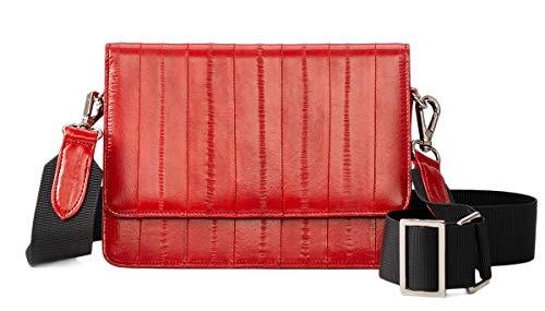 Becksöndergaard Handtasche Damen Elle Shelley Bag Schultertasche Aalleder Breiter Tragegurt Größe 19 x 12 cm (Red)