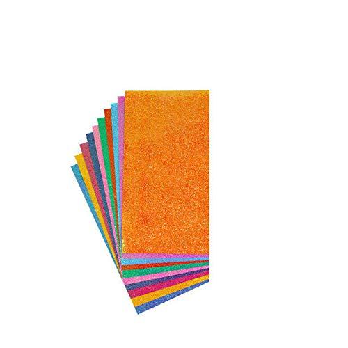 Papel de Origami Cuadrado Papel de artesanía de Color Brillante Plegable de una Cara Papel de diseño de decoración de álbum de Recortes Hecho a Mano para niños - Origami de 7x14 cm