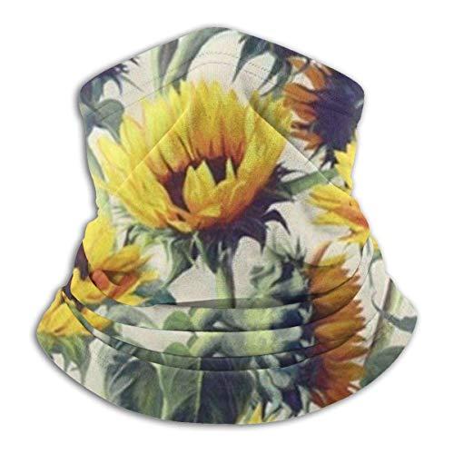 XCVD Komfort Gelbe Sonnenblume Multifunktionaler Mikrofaser-Halswärmer, Sportgesichtsschutz, winddichter, staubdichter Mund Gesichtsmaske Magischer Schal Halswärmer Kopfwickelschals Gesichtsmaske