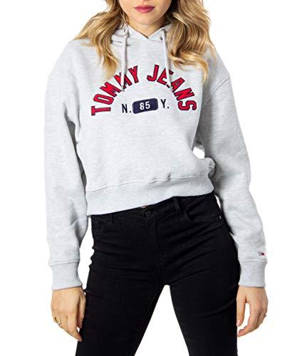 Tommy Jeans Damen TJW MODERN Logo Hoodie Sweatshirt, Grau (Grey PPP), (Herstellergröße:XL)