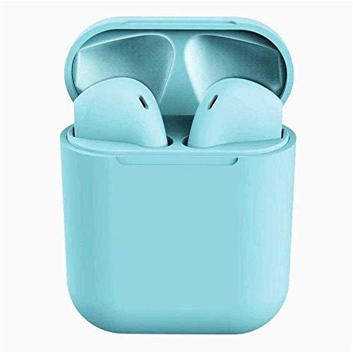 Fone De Ouvido Sem Fio InPods Coloridos Macaron Bluetooth 5.0 i12 TWS Touch True Wireless Stereo (Azul)