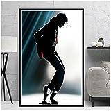 IUYBHRYI Michael Jackson Rip Musician King Star Lienzo Pintura Carteles e Impresiones Cuadro de Arte de Pared Sala de Estar decoración del hogar-50x70cm sin Marco