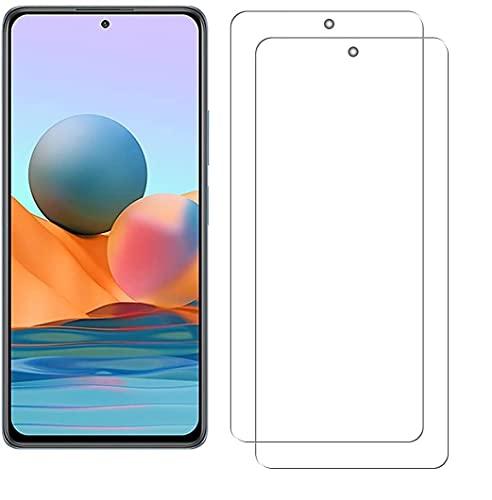 【2枚入】For Xiaomi Redmi Note 10 Pro フィルム Redmi Note 10 Pro カメラフィルム 日本旭硝子素材 硬度9H ガラスフィルム 2.5D ウンドエッジ加工 強化ガラス 高透過率 耐指紋 自動吸着 撥油性 (クリア)