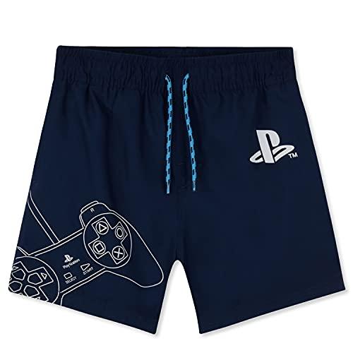 PlayStation Costume Bambino Mare, Costumi da Bagno per Piscina, Spiaggia, Swim Shorts Asciugatura Rapida, Gaming Merchandise (Blu, 11-12 Anni)