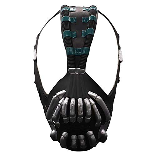 Bane Mask Replica Bronze Version, Latex Batman The Dark Knight Rise Mask Helmet Toys, Cosplay Costume for Adult