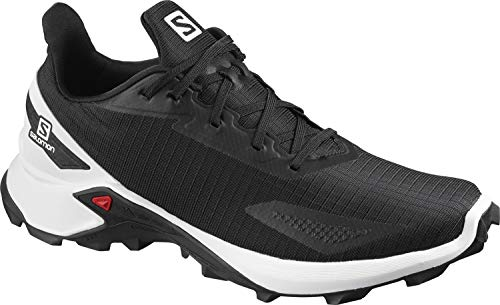 Salomon ALPHACROSS Blast, Zapatillas de Trail Running Hombre, Color: Negro (Black/White/Black), 43 1/3 EU