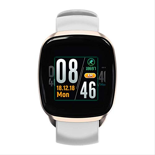 GYFKK Intelligente Uhr Smart Armband Vollbild-Touch Magnetische Saugmetall Armband Herzfrequenz Blutdruck Bewegung Uhr Champagner Gold