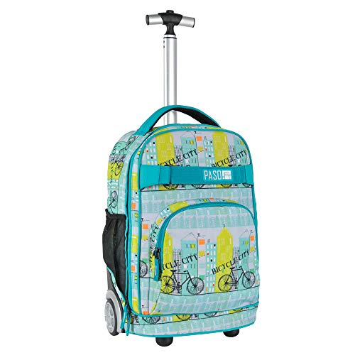 Children's Trolley 51 x 31 x 20 cm Bicycle Turquoise / Black / Yellow