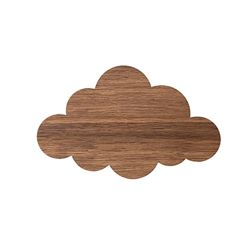 ferm living Kids Light Cloud Wandleuchte geräucherte Eiche 25 x 40 x 6,5 cm