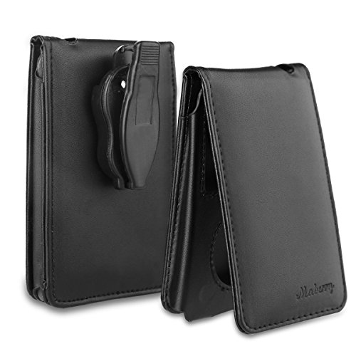 Maberry Leather Case for Apple iPod Classic 80G, 120G Protective Cover with Movable Belt Clip