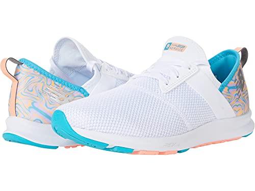 New Balance womens Nergize V1 Sneaker, Munsell White/Virtual Sky/Paradise Pink, 9 US
