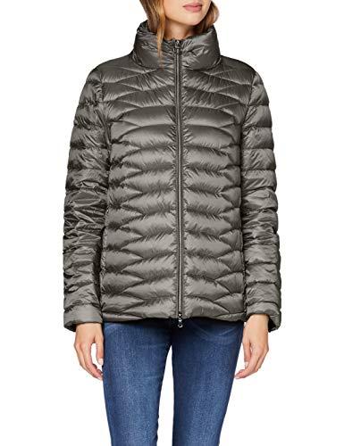 Geox Womens W Jaysen Quilted Jacket, Dark Cloudy Grey, 42