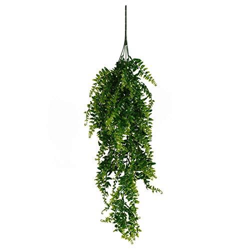 Dysetcs Plantas artificiales vides de seda falsas hiedra helechos persa ratán Boston Greenery planta colgante para la pared interior cestas hogar boda guirnalda decoración