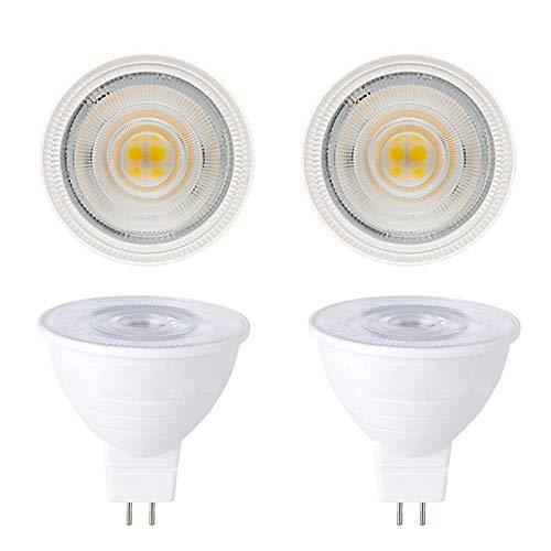 Jenyolon 4er Pack MR16 GU5.3 LED Lampen, Warmweiß 3000K, 500LM, 5W Ersatz für 50W Halogenlampen Glühlampen, Nicht Dimmbar, 12V AC/DC, PVC, 30°Abstrahlwinkel