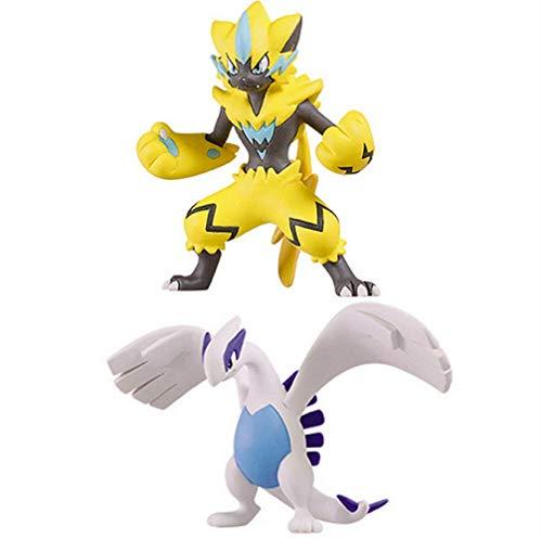 Pokemon Zeraora Lugia Actionfigur Anime Figur Sammlergeschenke Spielzeug Für Kinder 8Cm