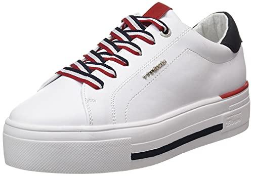 TOM TAILOR Damen 1196104 Sneaker, White, 38 EU