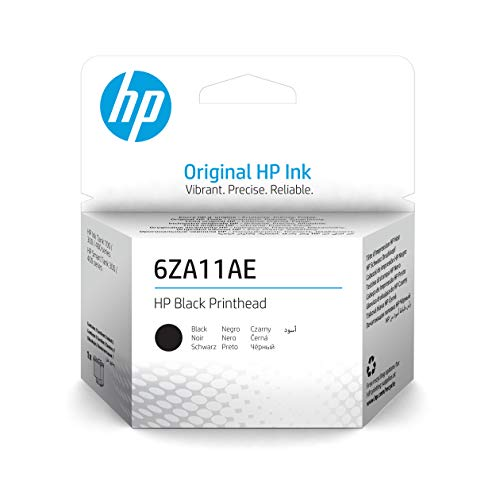 HP 6ZA11AE, Negro, Cabezal de Impresión Original, compatible con impresoras de inyección de tinta HP Smart Tank Serie 100, 300, 400, 455 y 457