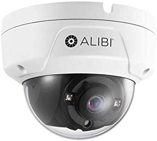Alibi 5.0MP HD-TVI Day & Night Outdoor Vandalproof Dome Security Camera with 2.8mm Lens, WDR, 65' IR, White