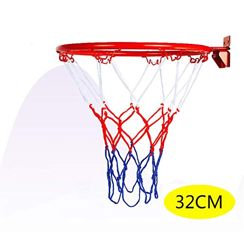 Alan 32cm Basketballkorb Wandmontage Basketballnetz Kinder Basketballbrett mit Ring für Outdoor Indoor