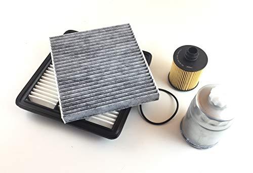 Filter Set Ölfilter Luftfilter Aktivkohlefilter Kraftstofffilter Fiat Freemont 345 JC 2.0 JTD
