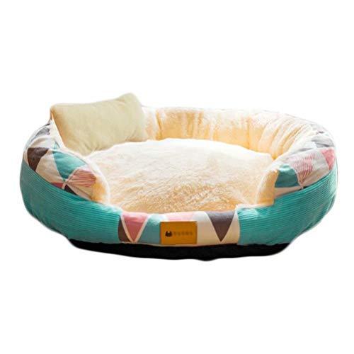 ZG Poltroncina per Cani Polar - GZ Soft Cozy Fur Fleece Warm Cushion Cuscino High Sided Cat Small Animal (Verde S-15.7'x 11.8'