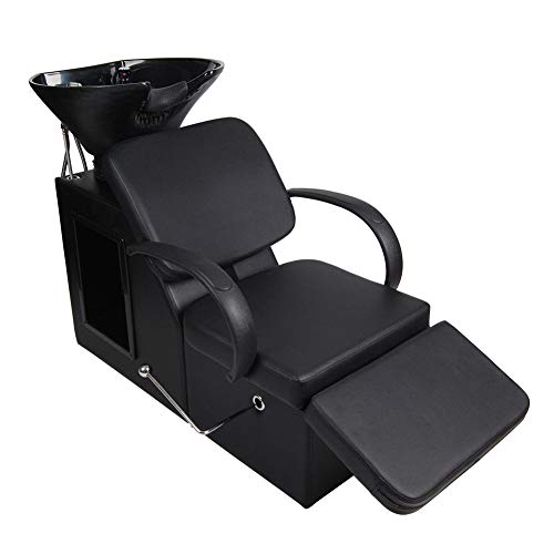 Adjustable Backwash Barber Chair Polar Aurora Salon Chair ABS Plastic Bowl Sink for Spa Beauty Salon Equipment