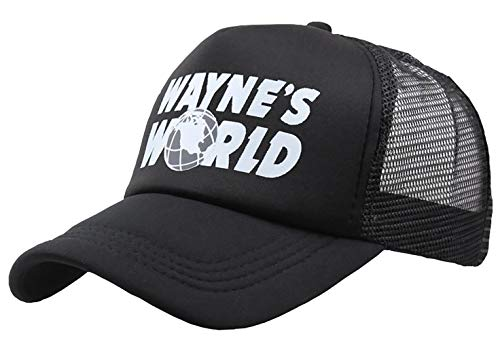 AGSHCQI Adjustable Hat Cotton Cap Baseball Cap Adjustable Hat Mesh Cap Outdoor Sports Wear Printing Black
